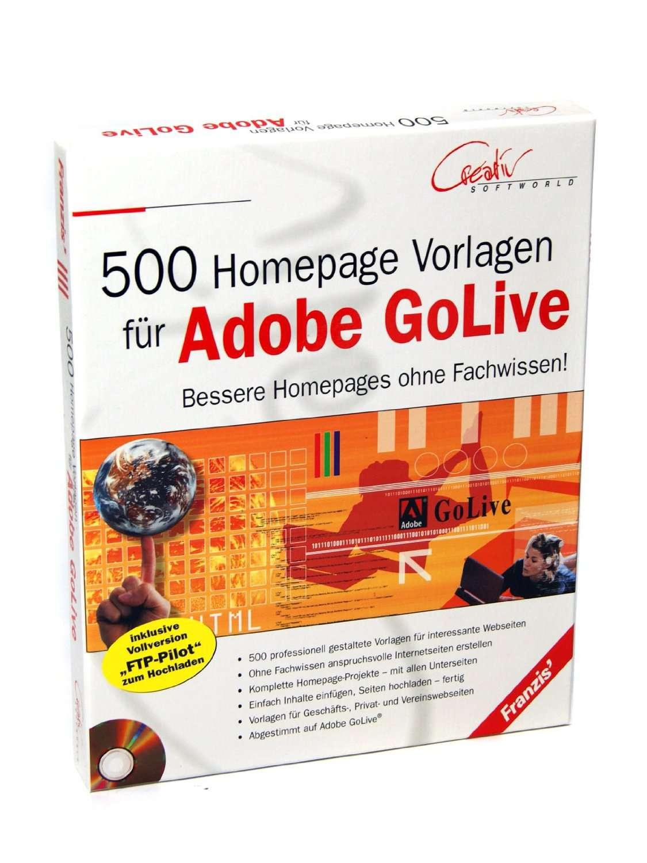 Franzis 500 Homepagevorlagen Homepage-Vorlagen Webseiten ...